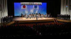 水俣高校音楽部・陸上自衛隊西部方面音楽隊によるオープニングアクト